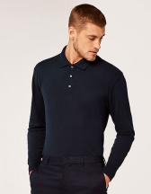 Men`s Classic Fit Piqué Polo Shirt Long Sleeve